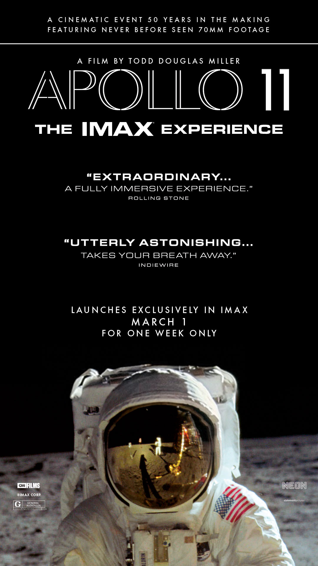 Apollo 11 (2019) | Nearby Showtimes, Tickets | IMAX