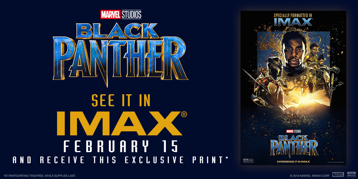 Black Panther IMAX Mini Poster