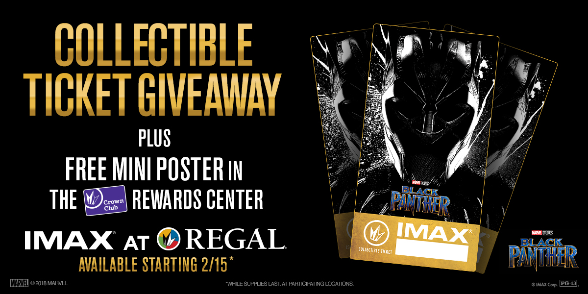 Black Panther IMAX Regal Cinemas Ticket