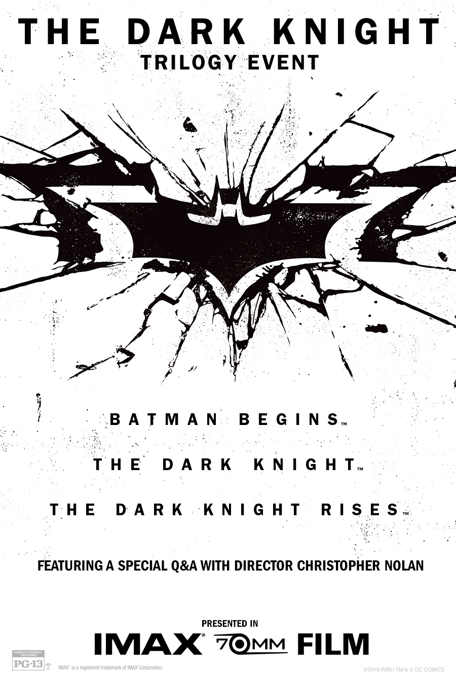 The Dark Knight Trilogy in IMAX 70mm