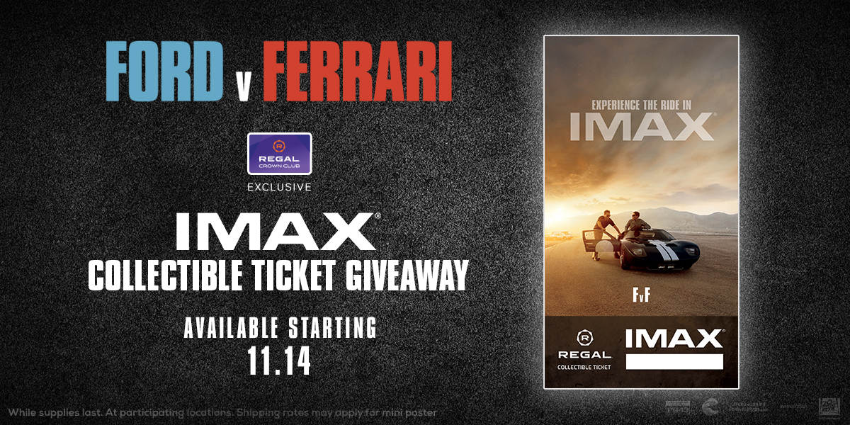 Ford v Ferrari IMAX collectible ticket