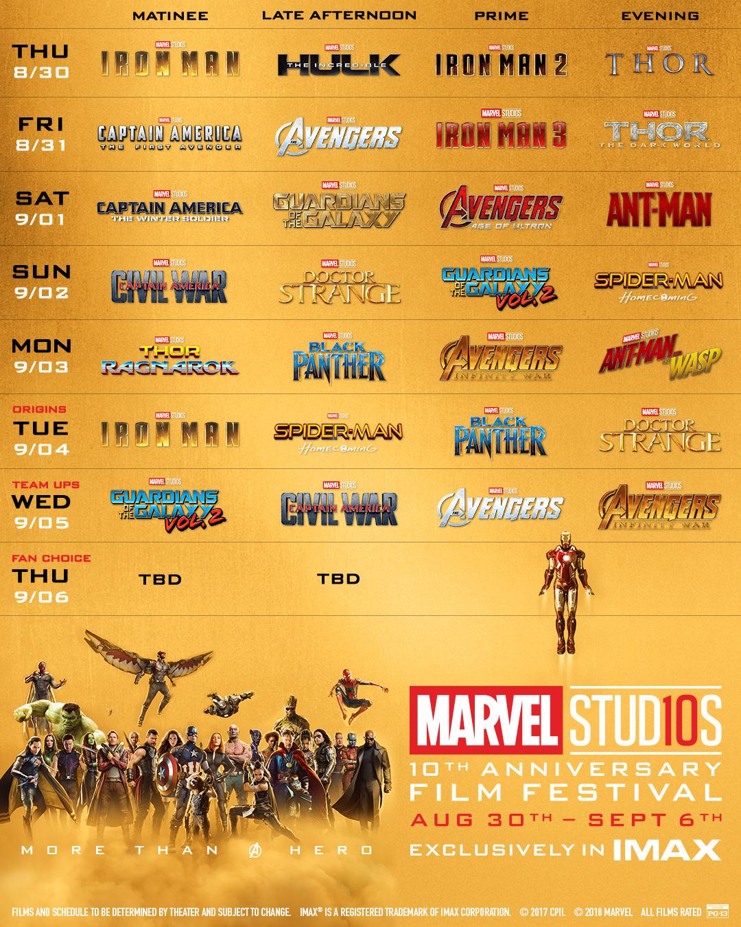 Marvel movie dates in Brisbane