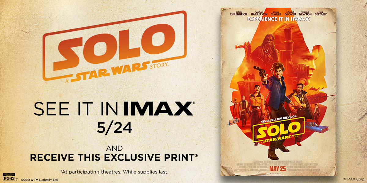 Solo IMAX Poster Giveaway