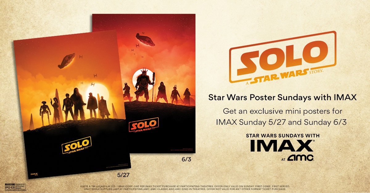 IMAX at AMC - Solo: A Star Wars Story Mini Poster