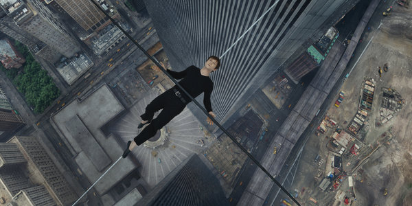"Joseph Gordon-Levitt as Philippe Petit in ""The Walk."""