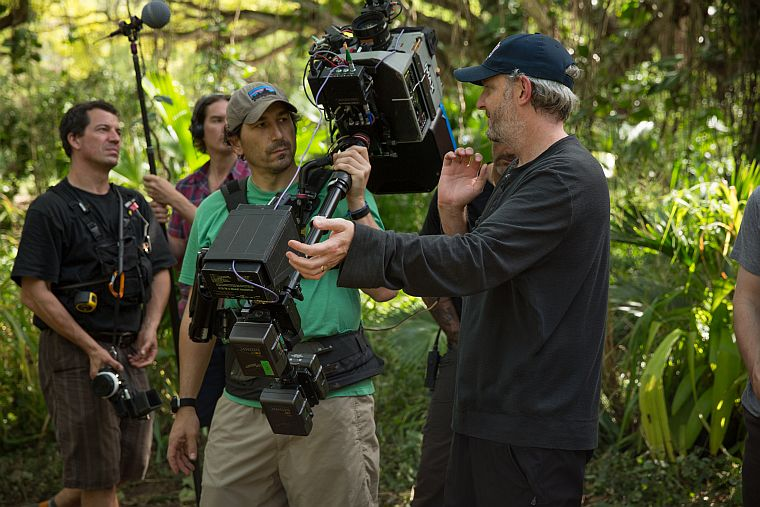 Francis Lawrence with the IMAX Camera