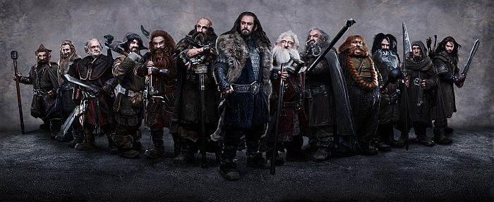 The 13 Dwarves from The Hobbit