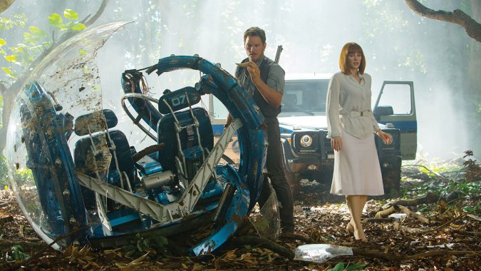 Jurrasic World is directed by Colin Trevorrow and produced by Frank Marshall, and builds on executive producer Steven Spielberg's Jurassic Park series.