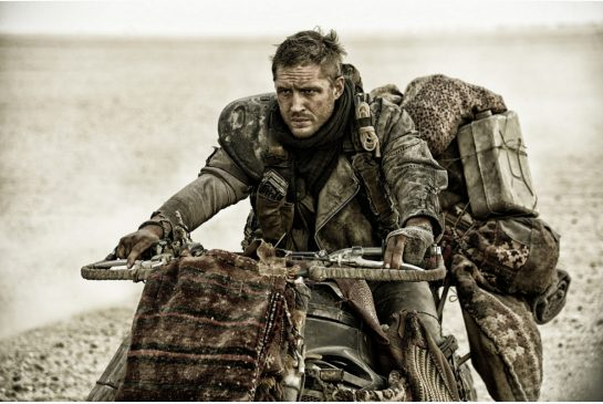 Tom Hardy roars across the screen in Mad Max: Fury Road, spectacular when seen with new 3D technology.