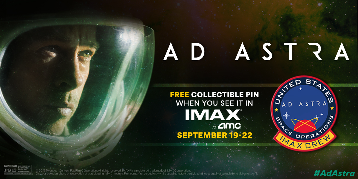 IMAX at AMC - Ad Astra Collectible Pin