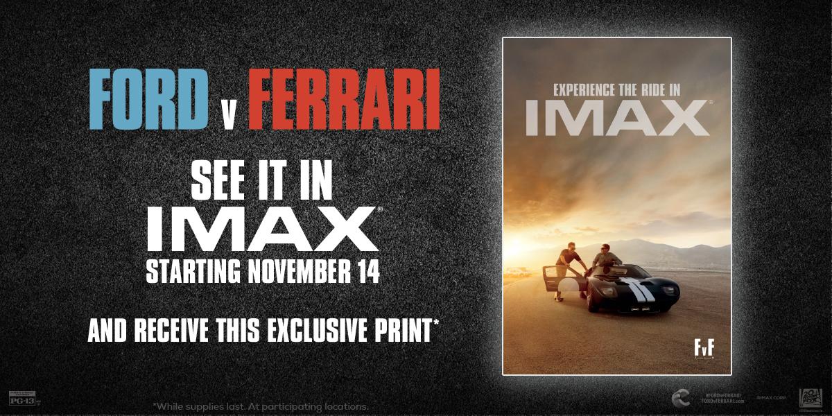 Ford V Ferrari Imax Giveaways Imax