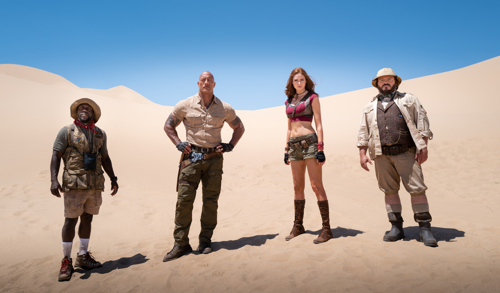Kevin Hart, Dwayne Johnson, Karen Gillan and Jack Black
