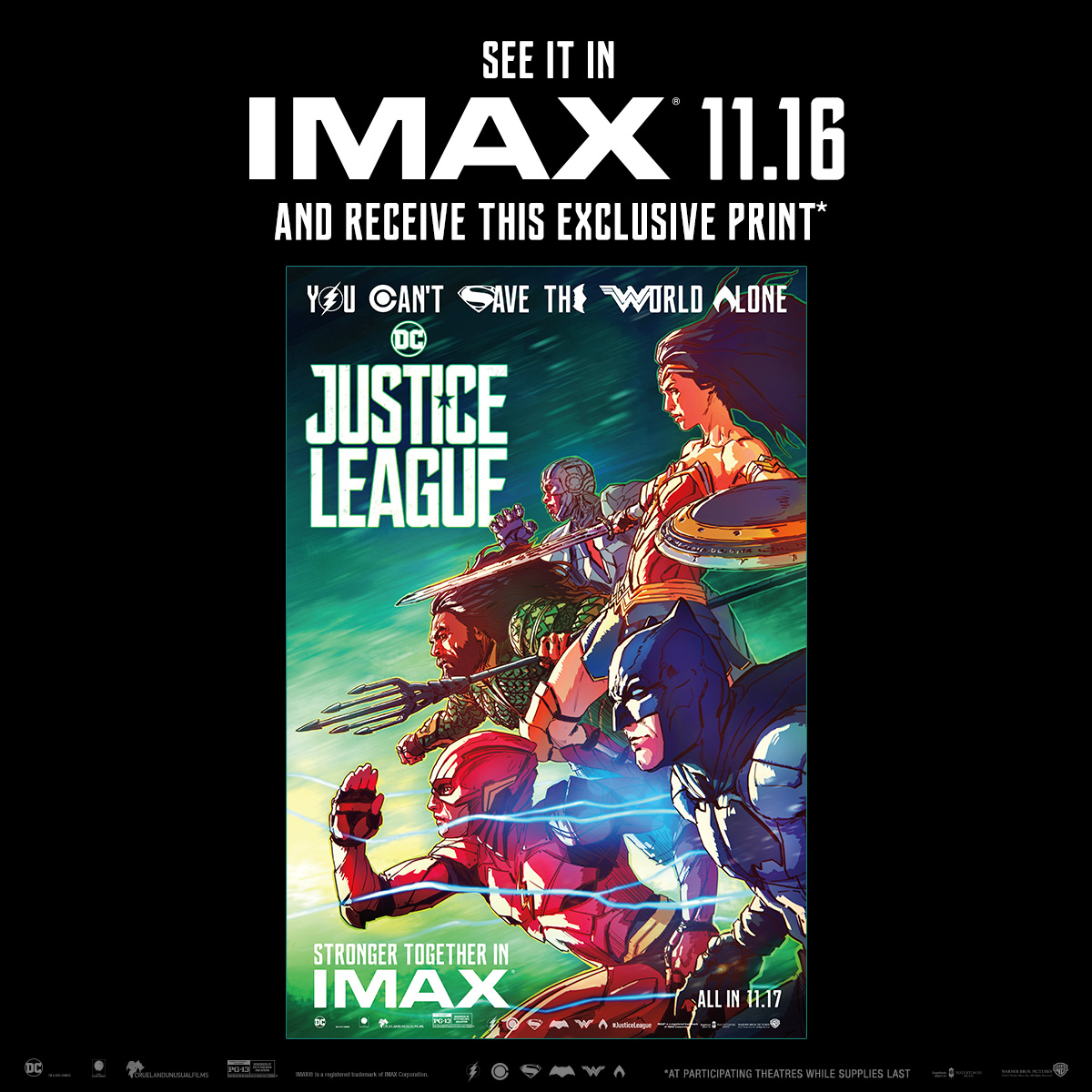 Aquaman Regal IMAX Collectible Ticket Numbered