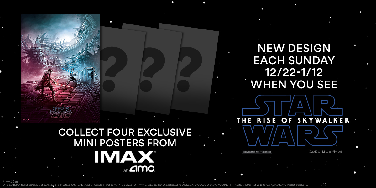 Star Wars The Rise Of Skywalker Imax Giveaways Imax