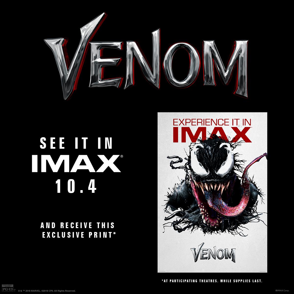 Venom IMAX Poster Giveaway